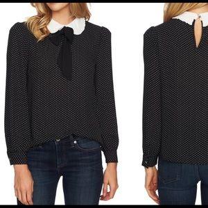 Black and white Polkadot blouse!